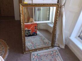 Gilt frame large mirror