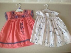 Mamas and papas two dresses, 6-9 months