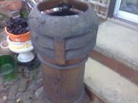 Terracotta garden chimney pot