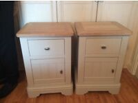 Next Hampton painted and real wood bedside tables and dressing table with mirror