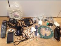JOB LOT surplus electrical devices, cables & an iPod TOUCH