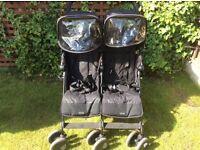 Maclaren Twin Techno (double buggy) Black