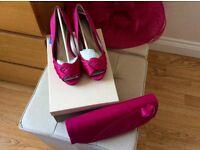 Jacques vert shoes & bag (Size 5 )