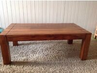 Solid wood coffee table/ tv stand and side tables