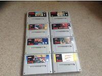 Nintendo snes games bundle with Mario kart & Mario all stars £90