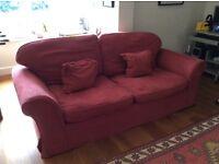 Burgundy 3-seater Sofa