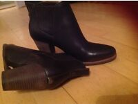 Brown leather UGG ankle boots