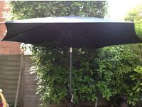 Brand new garden parasol - charcoal grey by George at Asda
