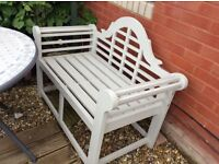 Deluxe two seater garden bench