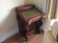 Wooden writing desk think it's Rosewood