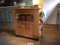 Kitchen island/trolley. Lovely solid wood, used, but quality item