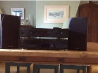 Denon DCD 625 CD player, Denon amplifier PMA 250III, two mission speakers