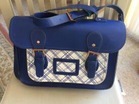 Ladies leather satchel handbag
