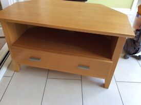 Oak veneer TV cabinet