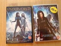 Underworld Awakening DVD & Underworld Rise of the Lycans DVD (double disc).