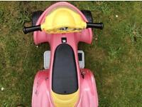 Kid's outdoor toy motorbike