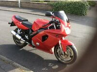 Yamaha FZR600R, red and in good condition