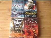4 John Stack Books: Master Of Rome, Armada, Ship Of Rome and Captain Of Rome