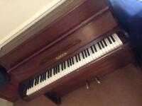 Piano, solid wood small upright c1950's recently tuned.