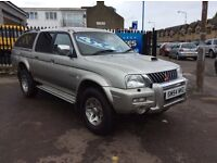 2004 MITSUBISHI L200 4x4 PICK UP TURBO DIESEL GREAT CONDITION FULL YEARS MOT SERVICED FULL LEATHER!!