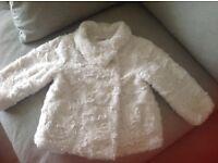 M&S Girls Fur Coat size 12-18months
