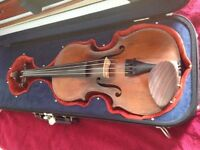 Antique Violin and Bow with professional case