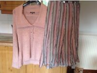 Per Una skirt size 14 and Debehams Classic cardigan size 16 being sold together as a set. BARGAIN.