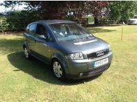 AUDI A2 TDI SE 5 DOOR DIESEL HATCHBACK CAR, 53 REG, SPARES OR REPAIRS