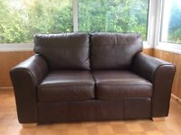 Next Brown Leather Sofa