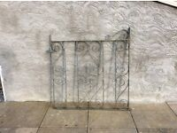 Wrought iron galvanised gate no hinges 840wide 750high Ono.