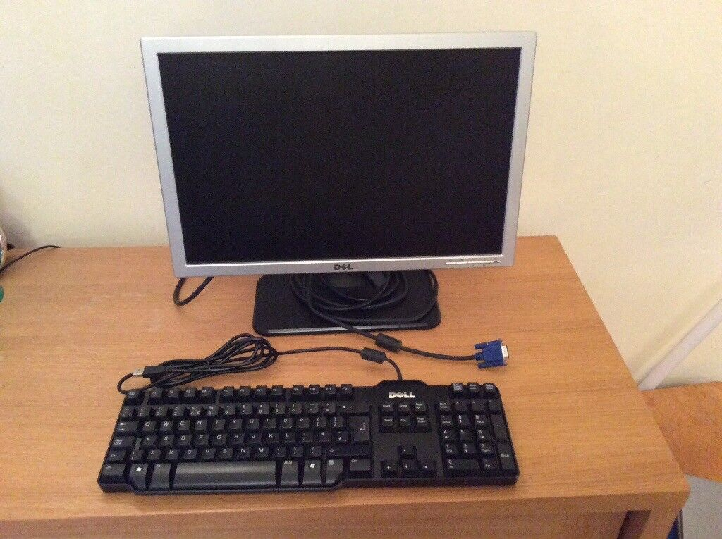 "20"" Dell flat screen computer monitor; plus Dell keyboard"