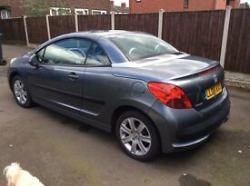 PEUGEOT 207cc SPORT 2008 CABRIOLET 2 Lady owners METALLIC GREY GOOD CONDITION