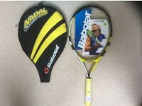 Juniors Babolat Nadal Tennis racquet and cover