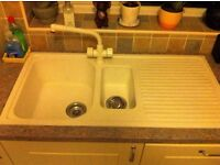 !.5 bowl white composite Sink for sale