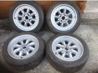 Forsale x4 15 alloy wheels tyres and nuts mx5 fitment mini lite and Xxr wheel look a like