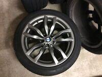 "Genuine BMW X5 20"" Alloy Wheels with Bridgestone Run Flat Tyres"