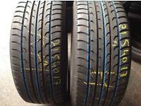 215/40/17 x 2 / part worn tyres