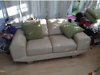 Ivory leather sofa - great TV sofa!!!!