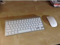 As New Lovely Original Apple Wireless Keyboard and Wireless Amazing Magic Mouse, Perfect Working