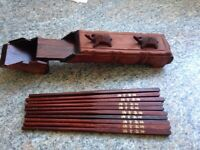 Chinese chopsticks in a wooden case