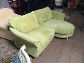 Lime green, chaise sofa (can change from lhf to rhf)