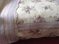 Pure Opulence double reversible bed throw.