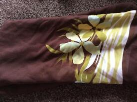 Large brown and lime sarong