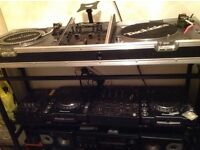 Full DJ Set up Technics SLs Pioneer 1000 CDJs Pioneer DJM600 KAM lasers stand etc etc DJ Decks