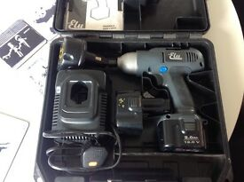 12V ELU cordless impact driver in box with 3 batteries