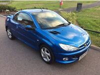 Peugeot 206cc. Low mileage. 2004 plate. Perfect for summer.
