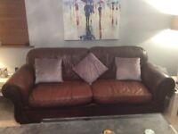 Sofa chocolate brown Italian leather