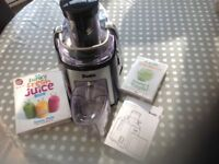 Dualit 2 speed juicer c/w Jason Vale DVD and recipe book