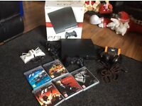 PS3 console bundle with games and headset