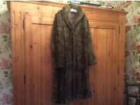 Ladies faux fur long coat